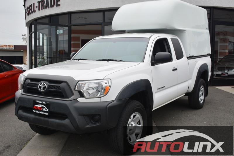 2013 Toyota Tacoma Access Cab V6 Auto 4WD 5-Speed Automatic White Gray 4WD Extended Cab Succe
