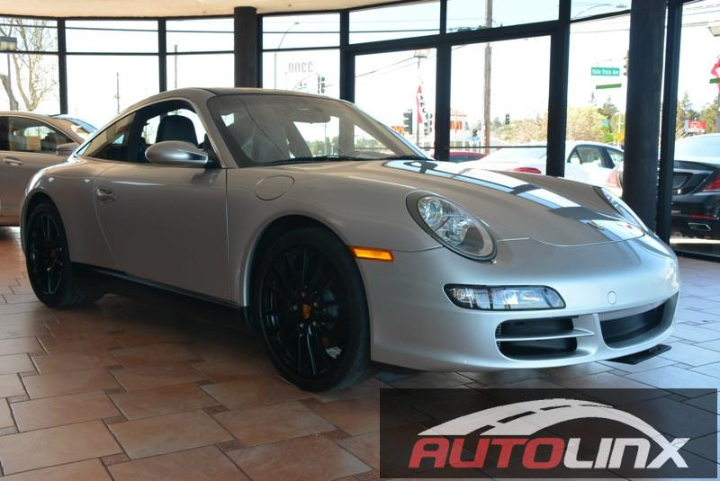 2007 Porsche 911 Targa 6 Speed Manual Silver Black Accident free Carfax History and Completely