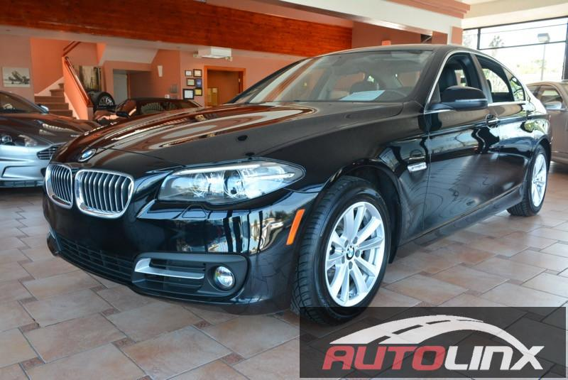 2015 BMW 5-Series 528i 8-Speed Automatic Black Black Black Leather Navigation Turbo Previous