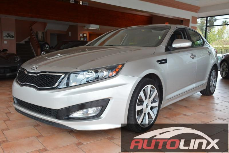 2013 KIA Optima SX Turbo 4dr Sedan Automatic 6-Speed Gray Black Accident free Carfax History an