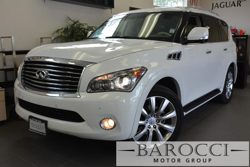 2013 Infiniti QX56 Base 4x4 4dr SUV Automatic White Beige Beautiful 7-Seater SUV has so many o