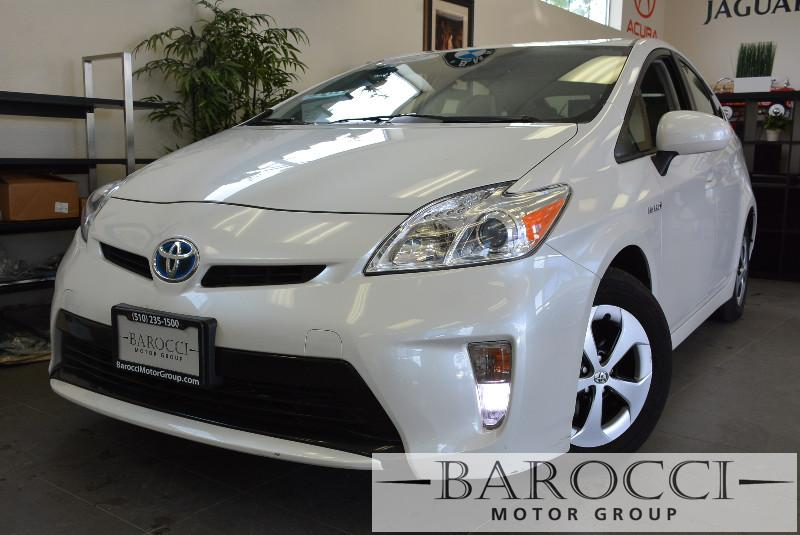 2012 Toyota Prius Three 4dr Hatchback Automatic White Air Conditioning Alarm Power Steering P
