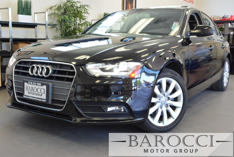 2013 Audi A4 20T Premium 4dr Sedan Automatic CVT Black ABS 4-Wheel Air Conditioning AM FM Ste