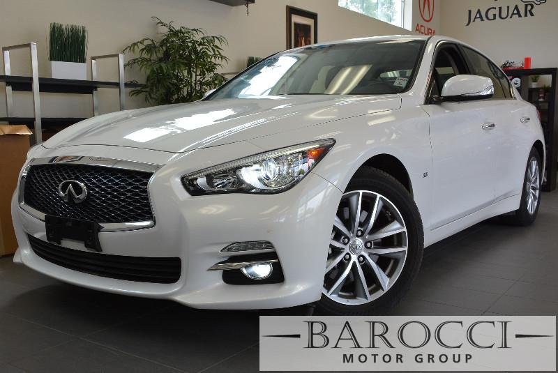 2014 Infiniti Q50 base 4dr Sedan Automatic White Black This is a beautiful vehicle in great con