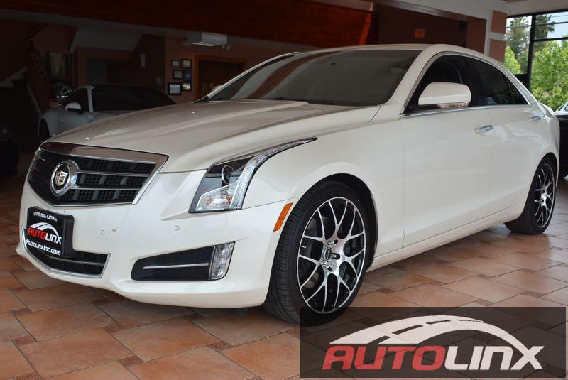 2013 Cadillac ATS 36L Premium RWD 6-Speed Automatic White Black One Owner Nav In a class by