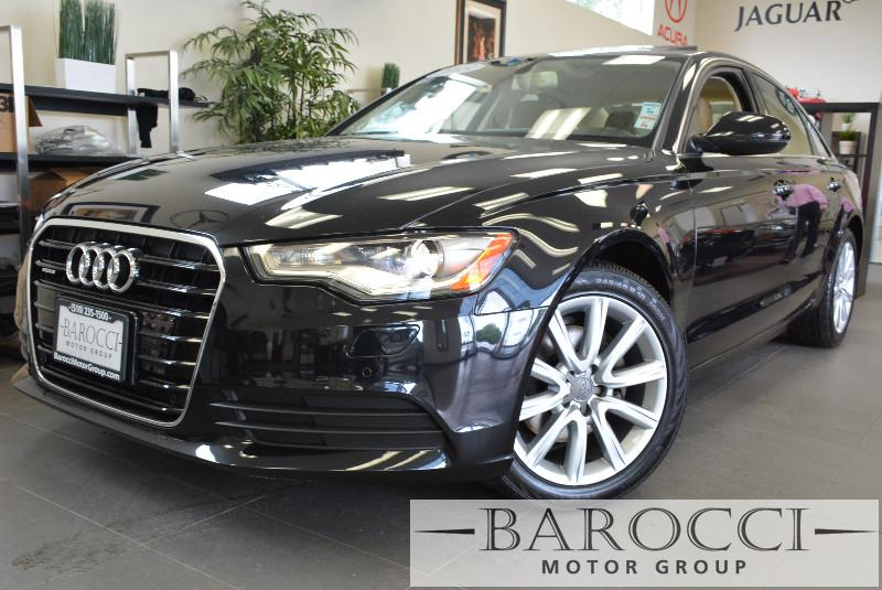 2013 Audi A6 20T quattro Premium AWD  4dr Sedan Automatic Black Tan Beautiful Quattro A6 comes