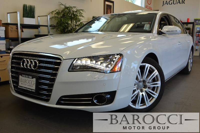 2012 Audi A8 L quattro AWD  4dr Sedan Automatic White Black Amazing vehicle with all the option