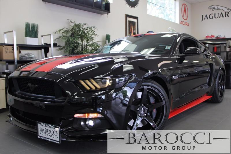 2015 Ford Mustang GT Premium 2dr  6spd Manual Manual Black Black Beautiful 50 Mustang has a
