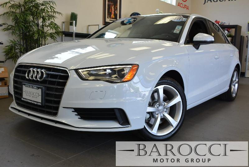 2015 Audi A3 18T Premium Plus 4dr Sedan Automatic White Black Beautiful Audi A3 comes loaded