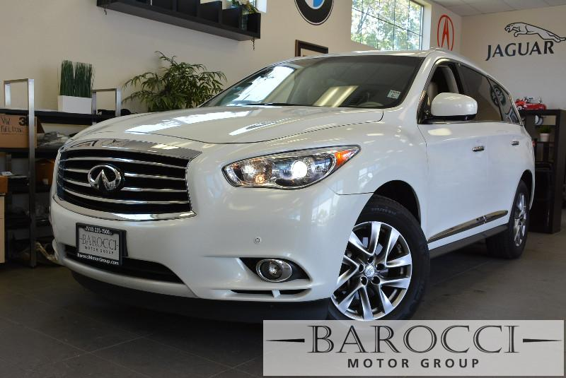 2013 Infiniti JX35 AWD 4dr SUV Continuously Variable Transmission White Tan Comes with a ton of
