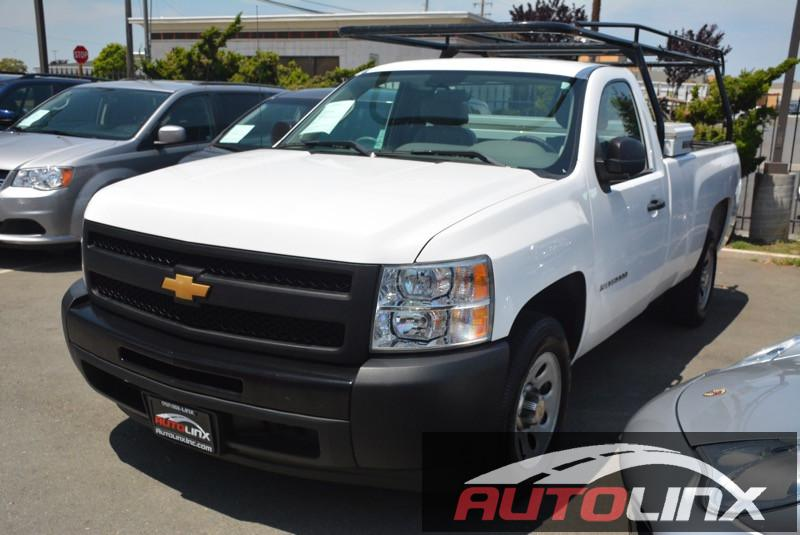 2012 Chevrolet Silverado-1500 Work Truck Automatic White Black 4-Speed Automatic with Overdrive