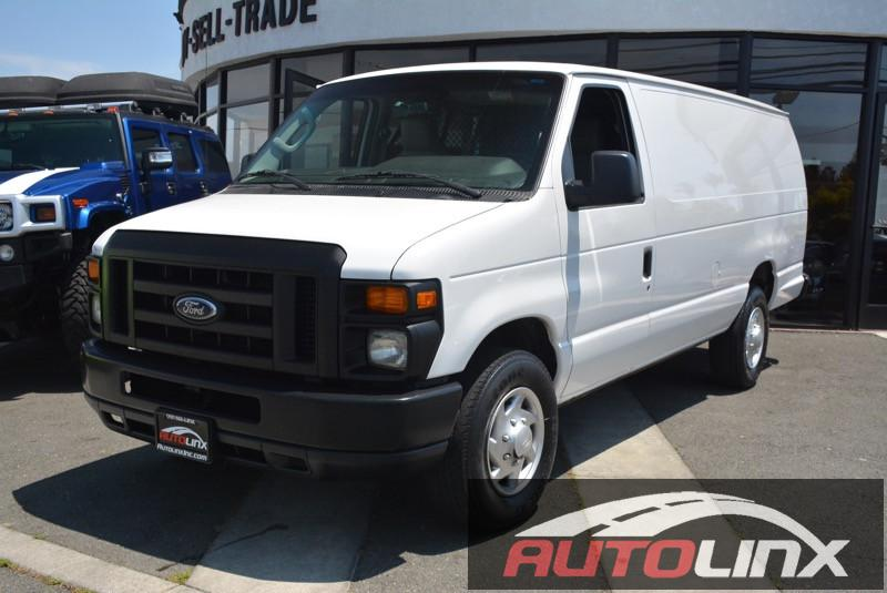2011 Ford Econoline E-350 Super Duty Extended 6-Speed Automatic White Black Flex Fuel Perfect