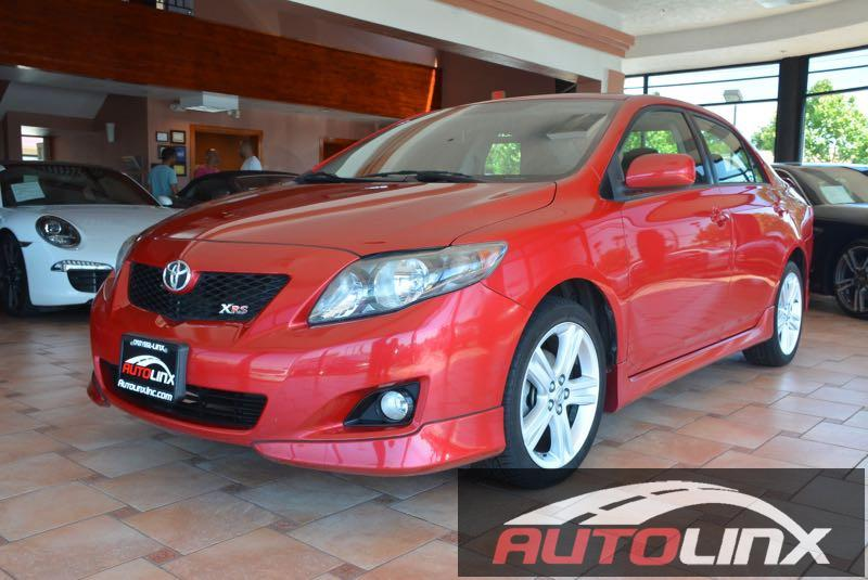 2009 Toyota Corolla XRS 5-Speed AT 5-Speed Automatic Red Black Accident free Carfax History and