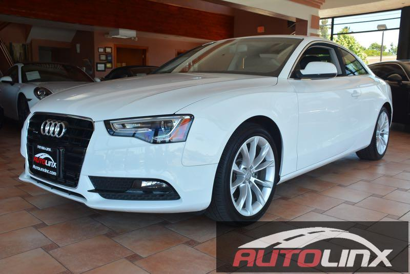 2013 Audi A5 2dr Coupe 6 Speed Manual White Black Accident free Carfax History and Locally trad