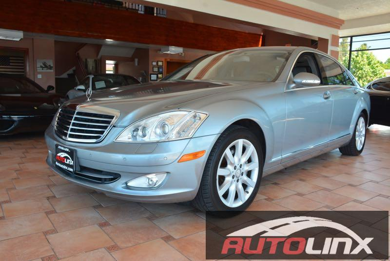 2008 MERCEDES S-Class 4MATIC 7-Speed Automatic Gray Black 4MATIC   and Black Leather 4MATIC