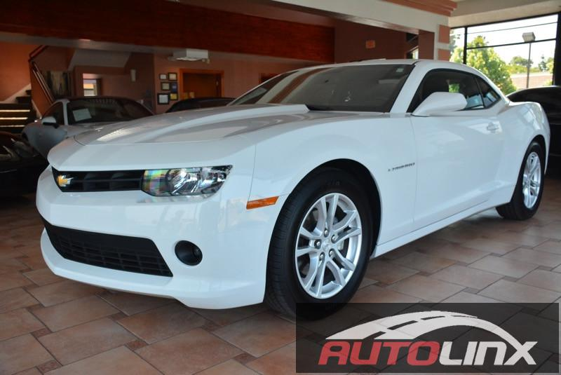 2015 Chevrolet Camaro 1LT Coupe 6-Speed Automatic White Black Move quickly At AutoLinx Inc Y