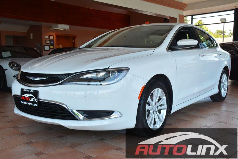 2015 Chrysler 200 Limited 9-Speed Automatic White Black Black The AutoLinx Inc Advantage You
