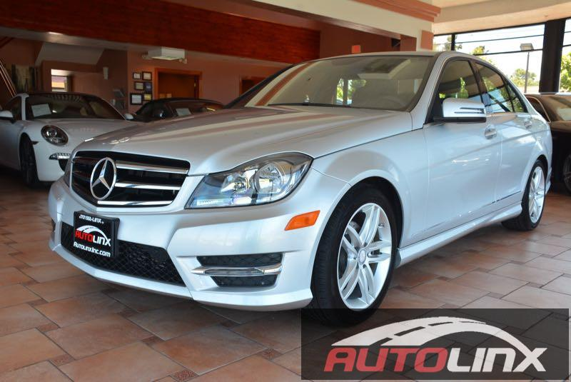 2014 MERCEDES C-Class C250 Sport Sedan 7-Speed Automatic Silver Black Turbo Silver Bullet Whe