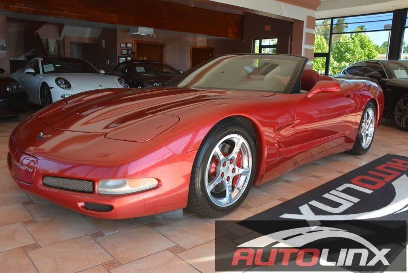 2001 Chevrolet Corvette Convertible Manual 6-Spd Red Black Stick shift Red Hot If you demand