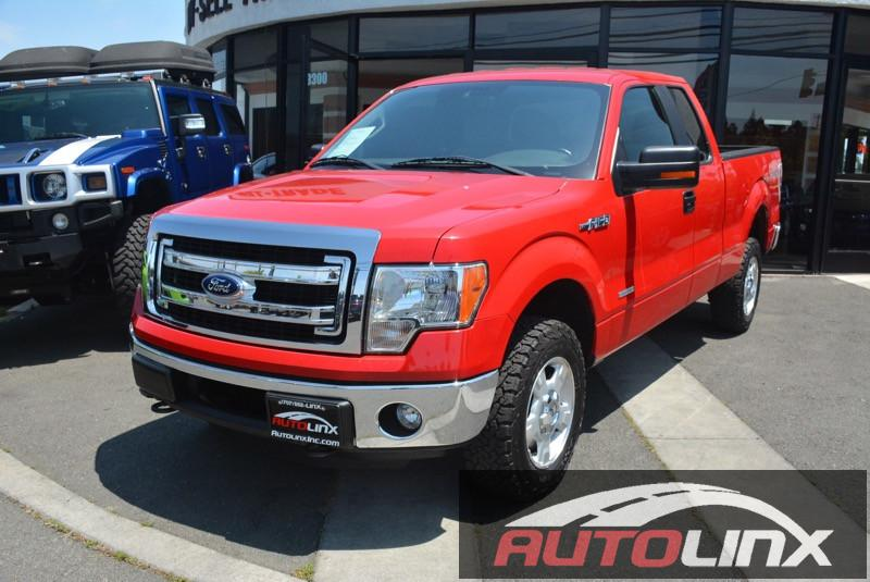 2013 Ford F150 Super Cab XLT Pickup 4D 6 12 ft Automatic 6-Spd wOverdrive Red Black 4WD The