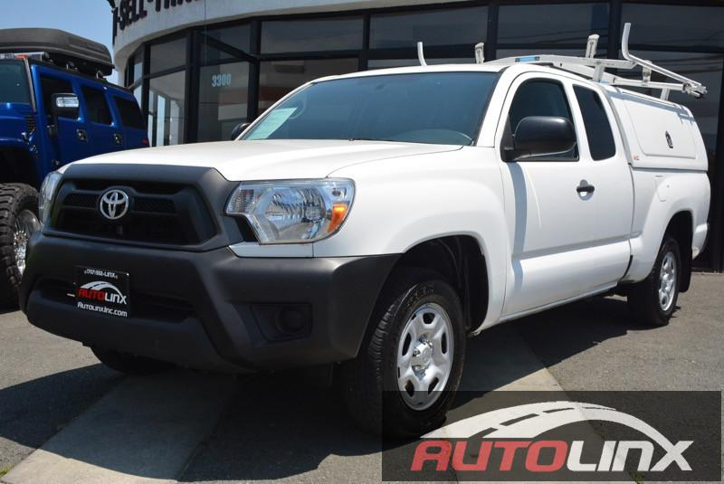 2014 Toyota Tacoma Access Cab Pickup 4D 6 ft Automatic 5-Spd White Beige ABS brakes Electroni