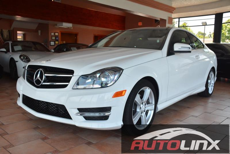 2013 MERCEDES C-Class C250 Coupe 7-Speed Automatic White Black In a class by itself Join us at