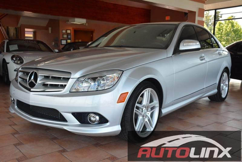 2009 MERCEDES C-Class C300 Luxury Sedan 7-Speed Automat Silver Black Accident free Carfax Histo