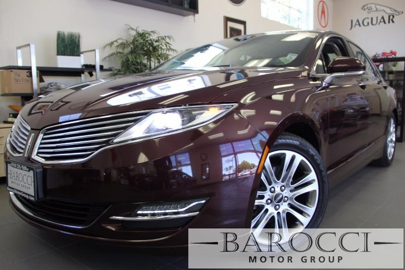 2013 Lincoln MKZ Hybrid Base 4dr Sedan Continuously Variable Transmission Maroon Black Beautifu