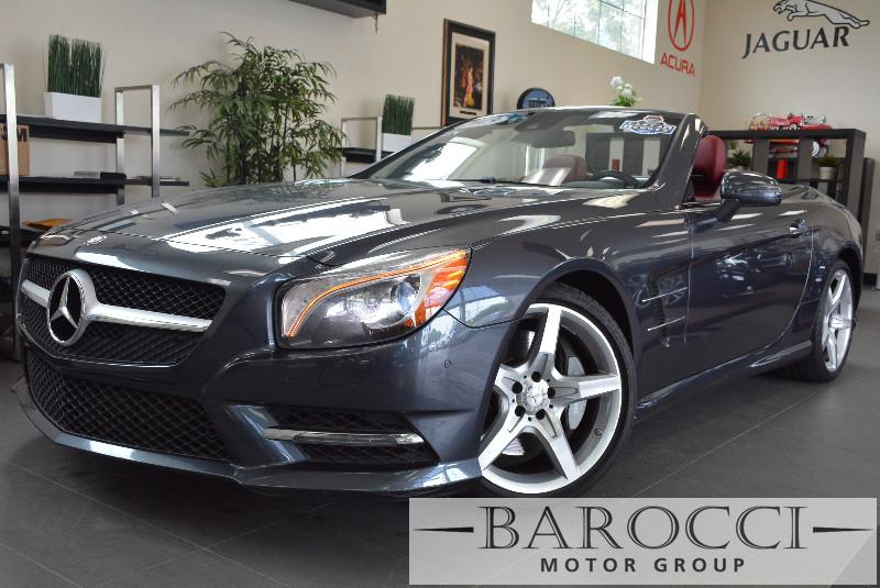 2013 MERCEDES SL-Class SL550 2dr Convertible 7 Speed Auto Gray Red ABS Air Conditioning Alarm