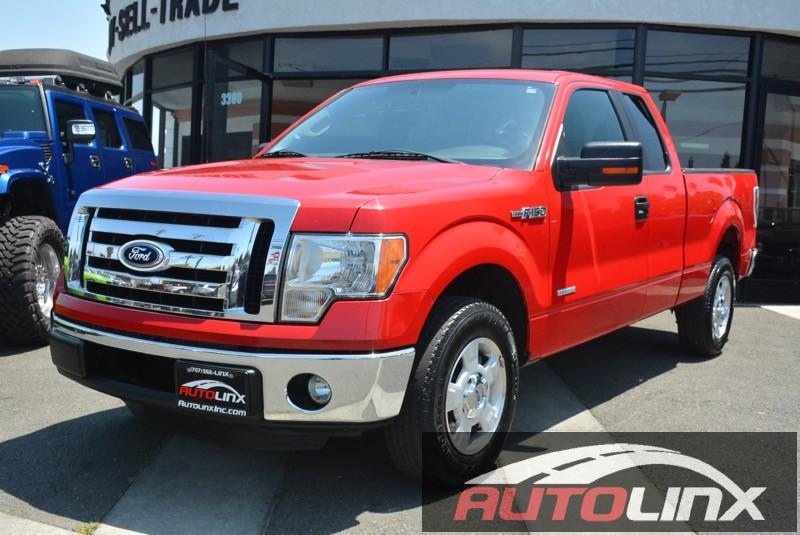 2012 Ford F150-Super-Cab XLT Pickup 4D 6 12 ft Automatic 6-Spd Red Gray ABS 4-Wheel Advance