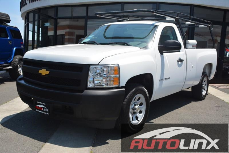 2012 Chevrolet Silverado 1500 Work Truck 4x2  2dr Regular Cab 65 Automatic White Gray 4-Speed
