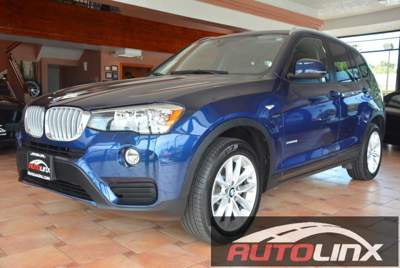 2016 BMW X3 xDrive28i 8-Speed Automatic Blue Bluetooth Hands-Free Portable Audio Connection L