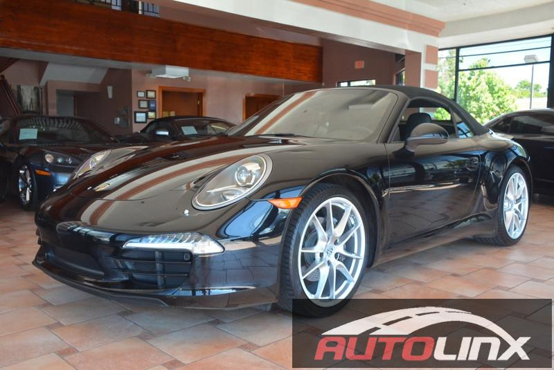 2014 Porsche 911 Carrera Cabriolet 6-Speed Manual  Black Black Bluetooth Hands-Free Portable