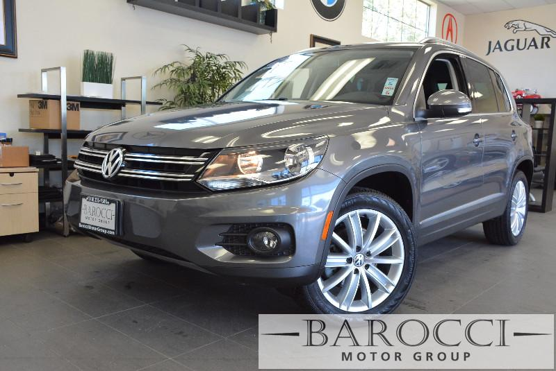 2013 Volkswagen Tiguan SEL 4dr SUV 6 Speed Auto Gray Black Beautiful Tiguan has many options in