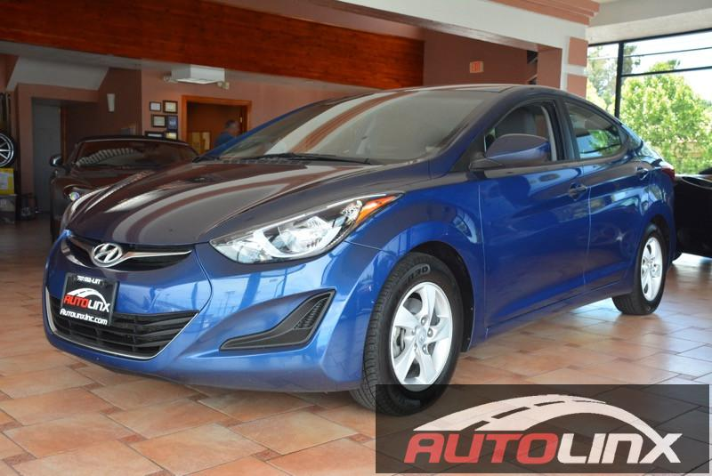 2015 Hyundai Elantra SE Automatic Blue Bluetooth Hands-Free Portable Audio Connection Acciden