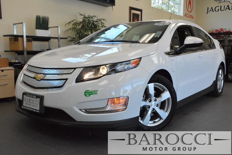 2013 Chevrolet Volt Base 4dr Hatchback 1 Speed Auto White Carpool Lane Stickers XM Radio ABS