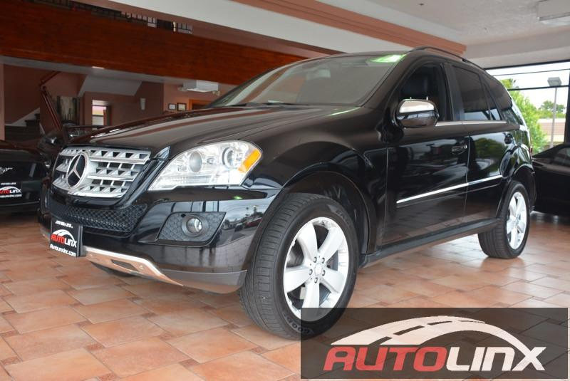 2010 MERCEDES M-Class ML350 4MATIC 7-Speed Automatic Overdrive Black Black 4MATIC   and Black