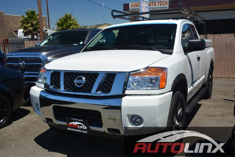 2015 Nissan Titan S King Cab 4WD 5-Speed Automatic White NA TOOL BOX AND and tool box and ladd