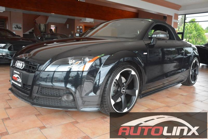 2015 Audi TT 20T Roadster quattro S tronic 6-Speed Automatic Black Black Black Leather 6spd