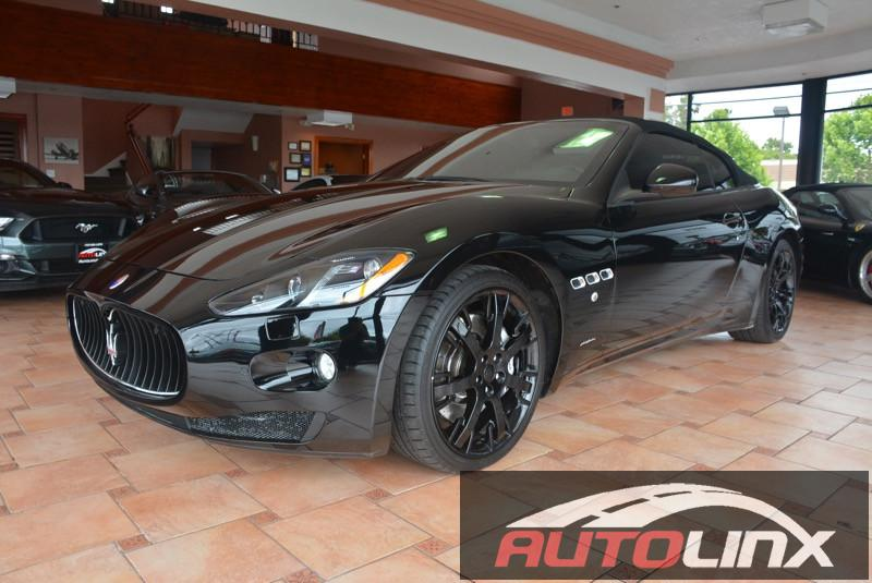 2013 Maserati GranTurismo Sport Convertible 6-Speed Automatic Black Black Bluetooth Hands-Free