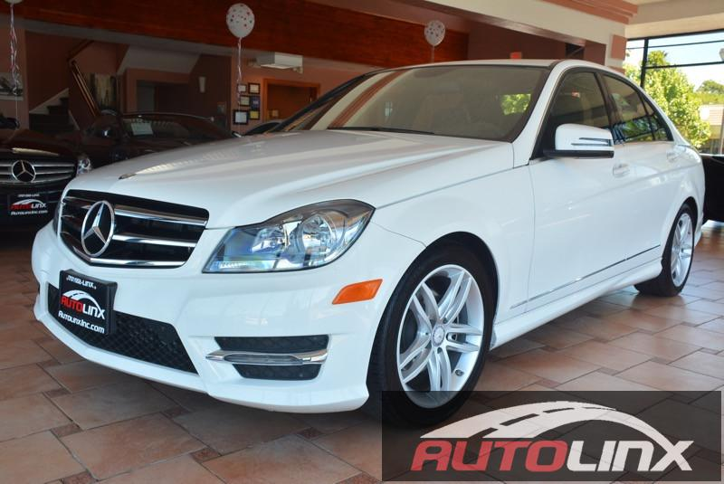 2014 MERCEDES C250 Sport Sedan 7-Speed Automatic White Bluetooth Hands-Free Portable Audio Con