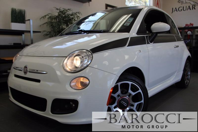 2013 FIAT 500 Sport 2dr Hatchback Automatic White Black Beautiful Fiat 500 Sport has leather s