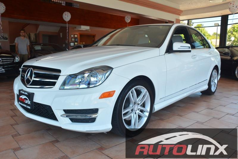 2014 MERCEDES C-Class C250 Sport Sedan 7-Speed Automatic White Turbo No games just business T