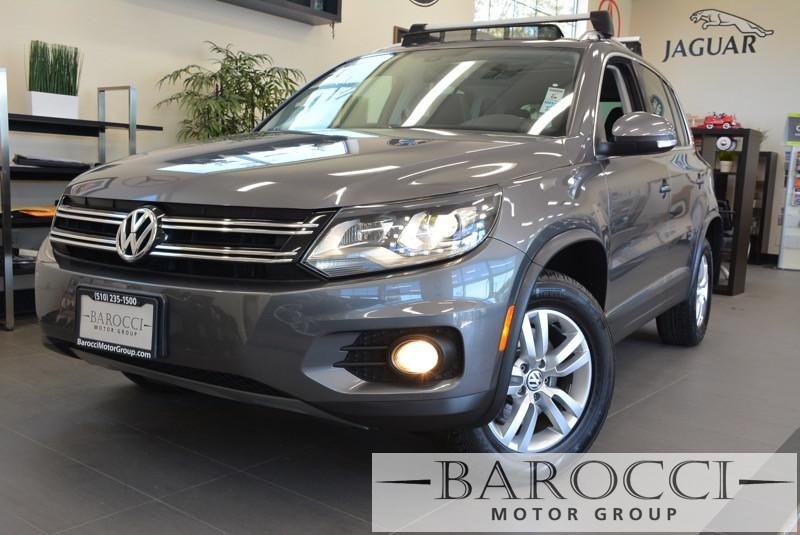 2012 Volkswagen Tiguan SEL Premium W Navigation 6 Speed Auto Gray Black Child Safety Door Lock