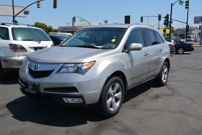 2010 Acura MDX Tech Package Automatic Silver Black MDX Technology w Technology Package and Blac
