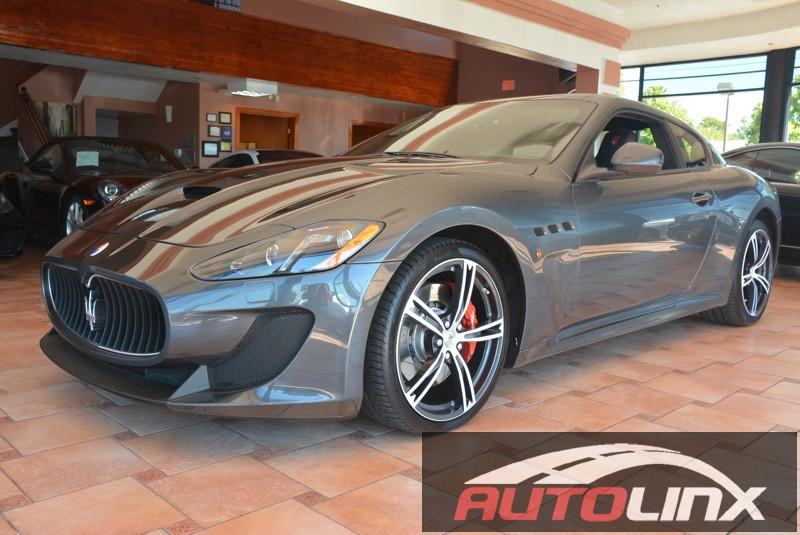 2014 Maserati GranTurismo MC 6-Speed Automatic Gray Black New Special Paint Pkg Interior Carbo