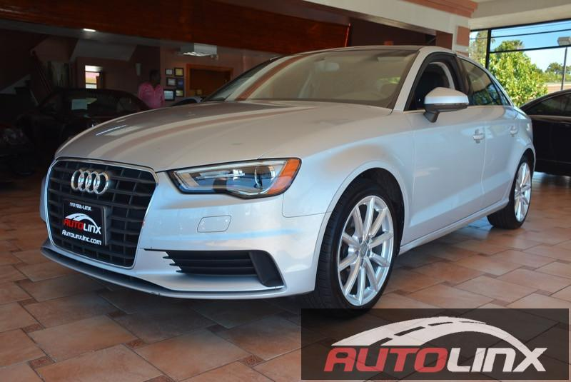 2015 Audi A3 18T Premium FWD S tronic 6-Speed Automatic Silver Black Black Leather Turbocharg