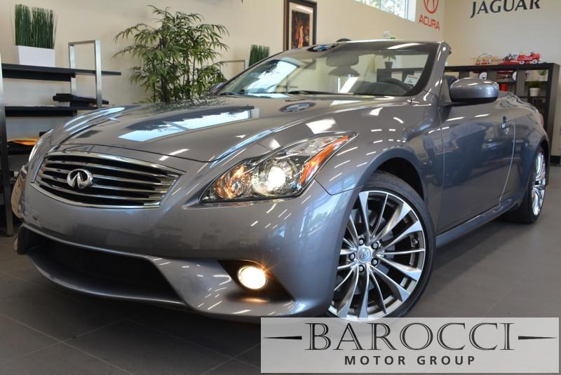 2013 Infiniti G37 S Convertible Sport 2dr Convertible 7 Speed Auto Gray GPS Navigation Parking