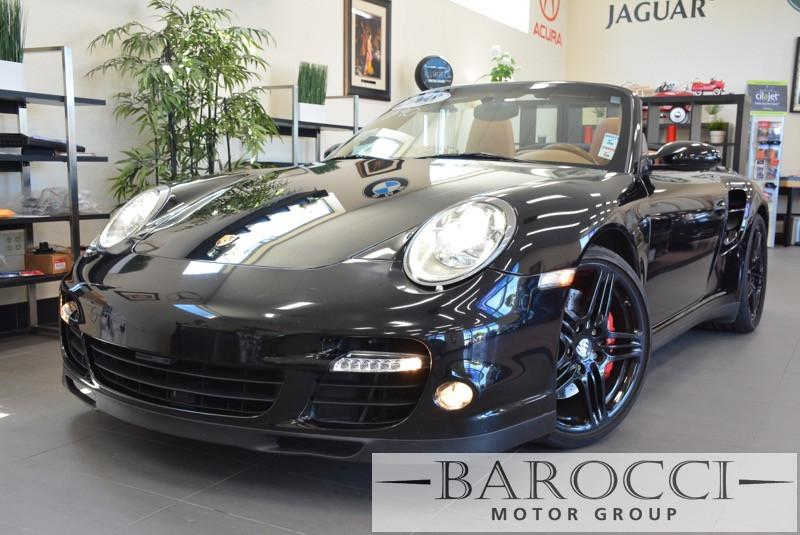 2008 Porsche 911 Turbo AWD  2dr Convertible 6 Speed Manual Black Beige Power Door Locks Vehicl