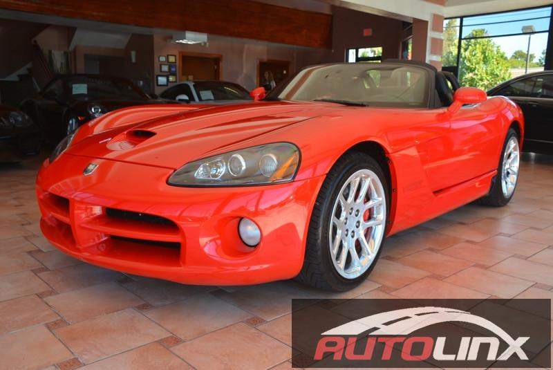 2005 Dodge Viper SRT-10 6-Speed Manual Red Black Accident free Carfax History One Owner and C